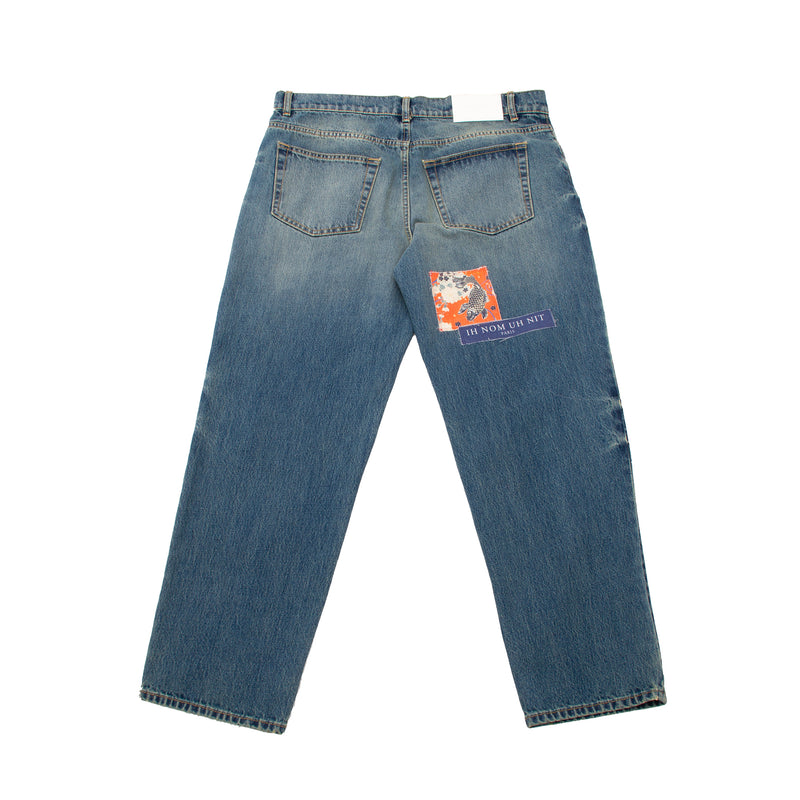 VINTAGE WASH PATCHES JEANS