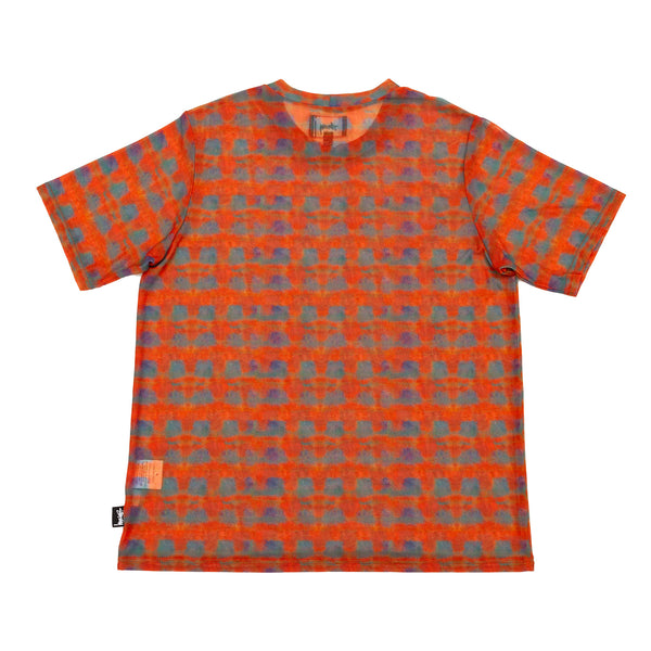 Stussy Printed Plaid Mesh Tee