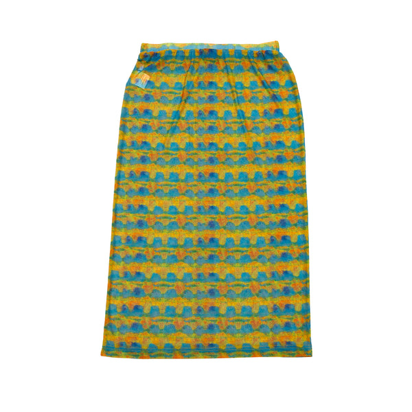 Stussy Printed Plaid Mesh Tube Skirt