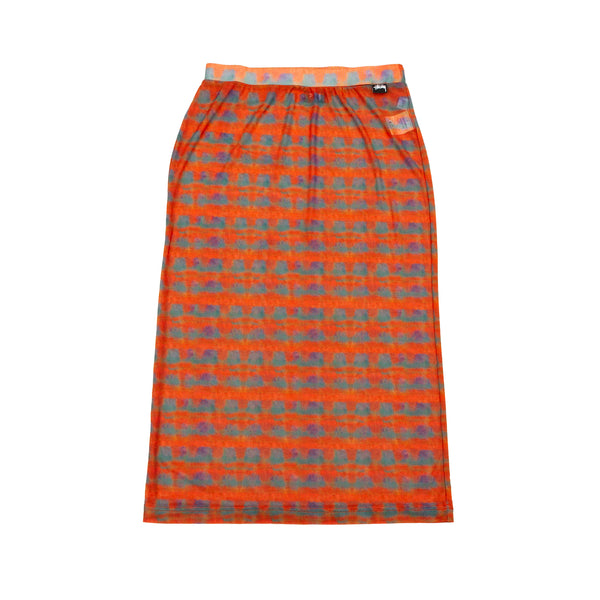 Stussy Plaid Mesh Tube Skirt