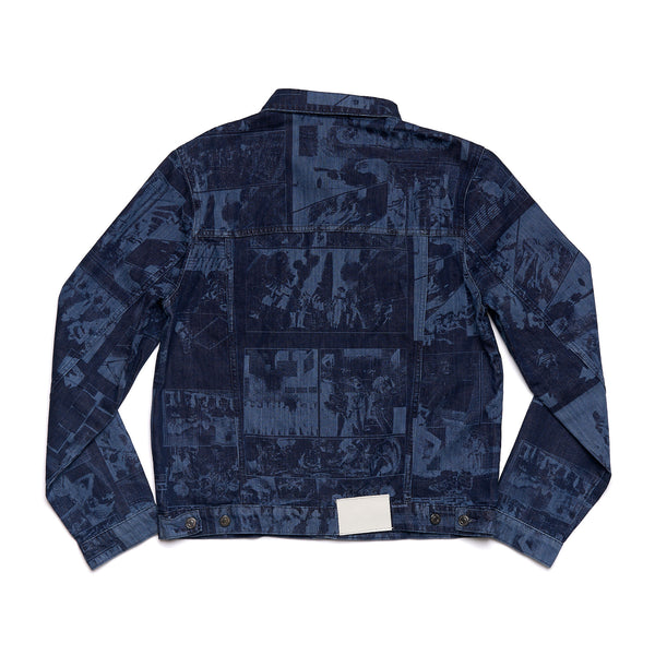 Lazered Denim Jajean Jacket