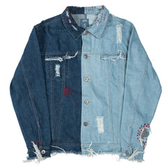 Contrast Distressed DNM JKT