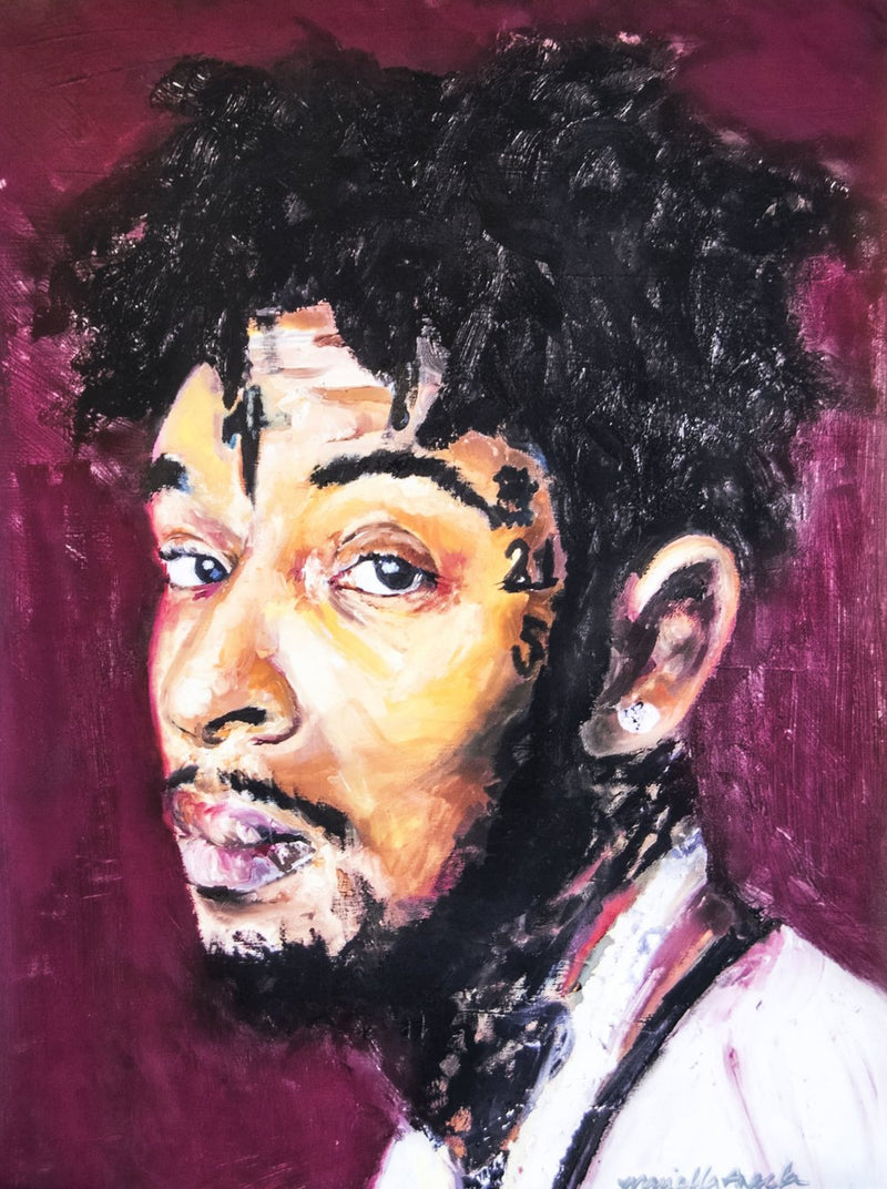 21 Savage Poster by Mariella Angela