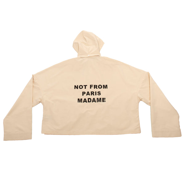 Drole De Monsieur Slogan Cropped Jacket