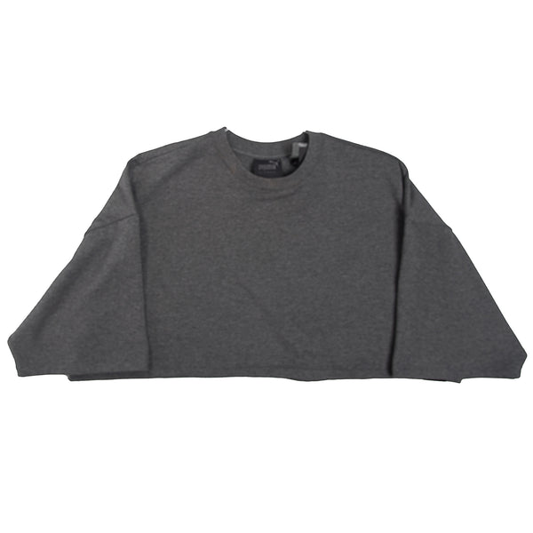 Cropped Crew Neck T-Shirt