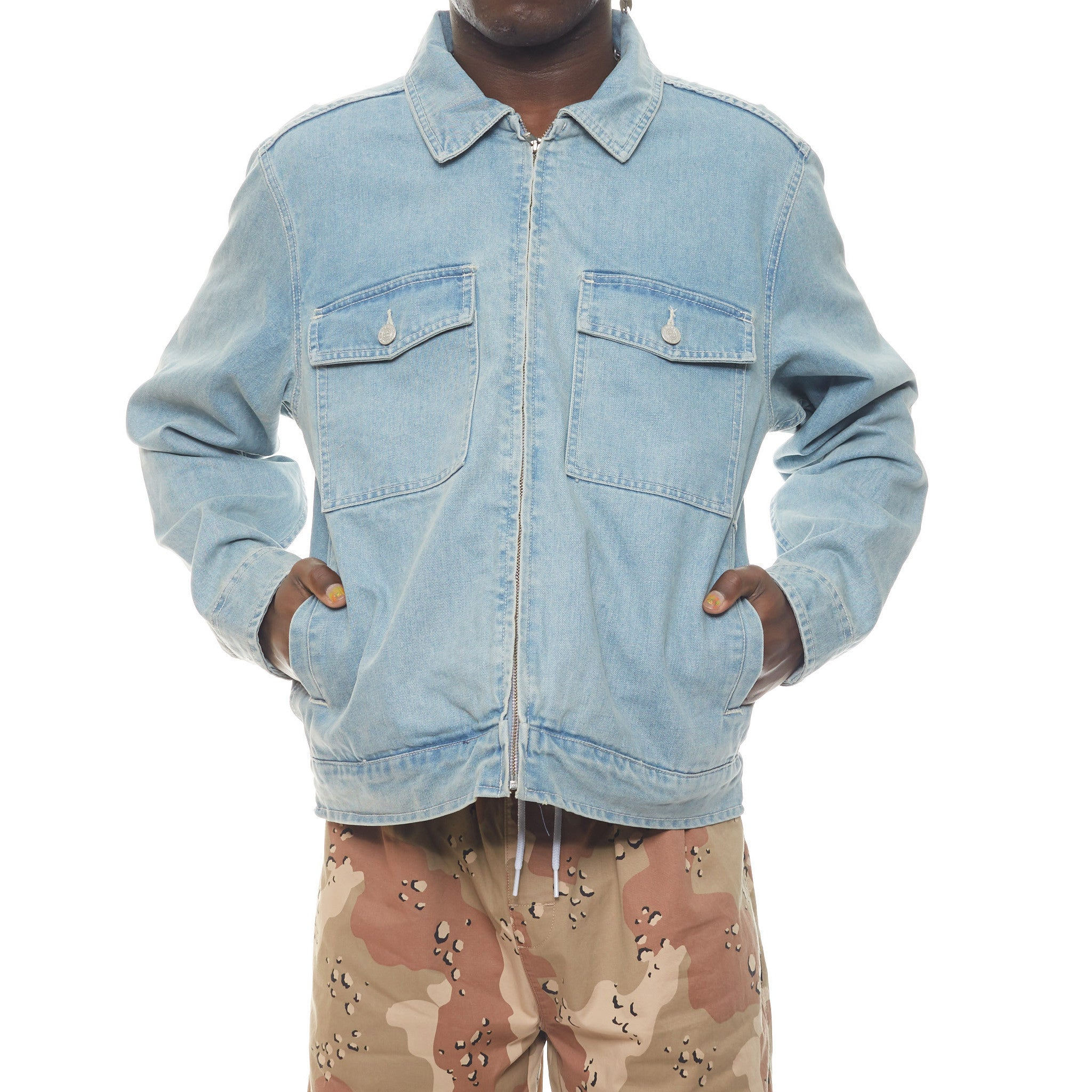 Washed Denim Garage Jacket