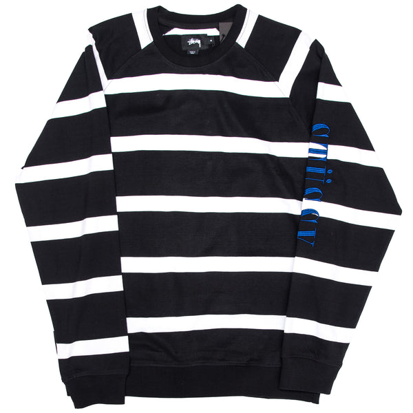 Striped Raglan Crew