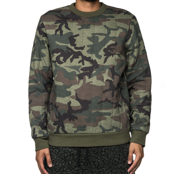 Quilted Crew Neck