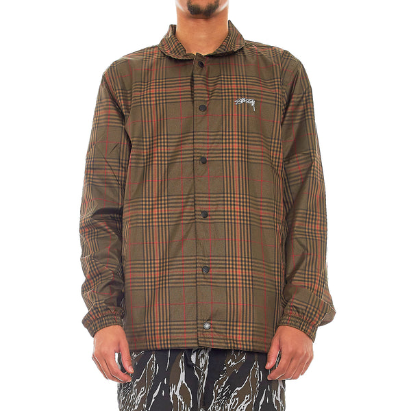 Stussy Deluxe Plaid Coach Jacket