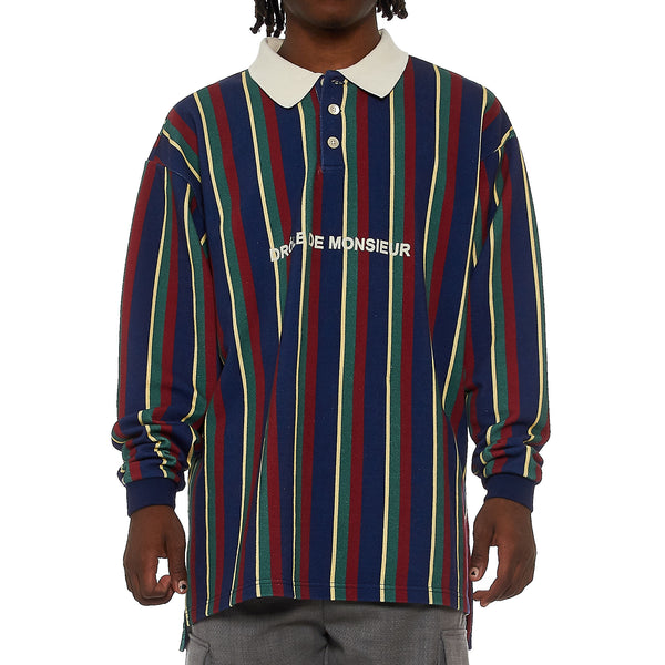 Drole De Monsieur Striped Polo