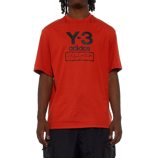 Y-3 STACKED Logo Short Sleeve