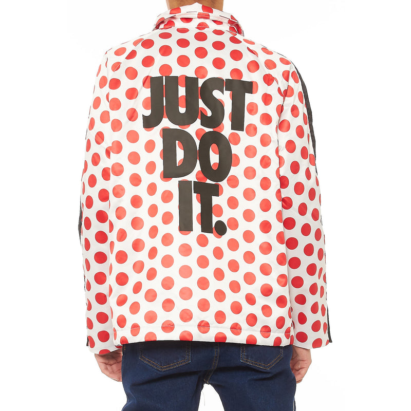 "NIKE ""Just Do It"" Red Polka Dot Jacket"