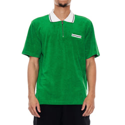 Stussy Deluxe TERRY LION ZIP POLO