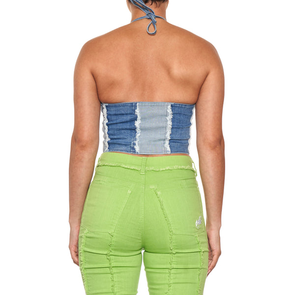 MadeMe Paneled Halter Top