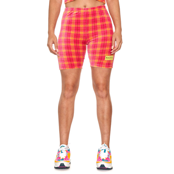 MadeMe Velour Plaid Shorts