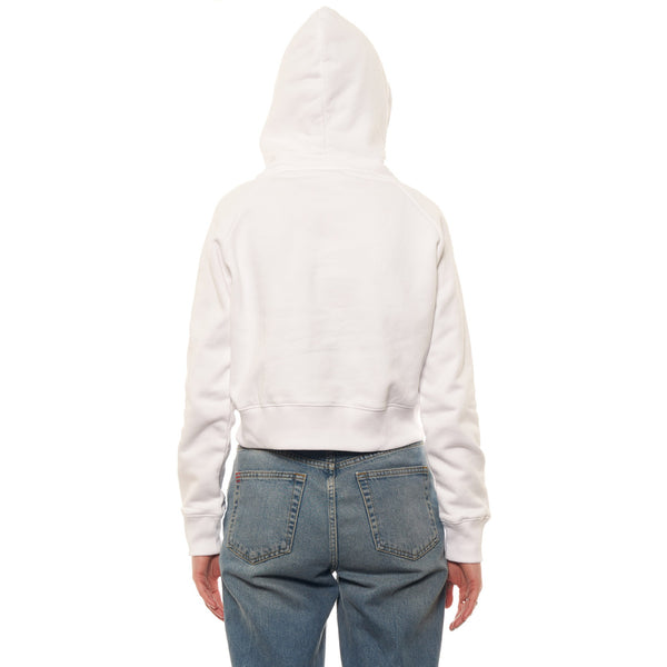 The Crop Hoodie (White)