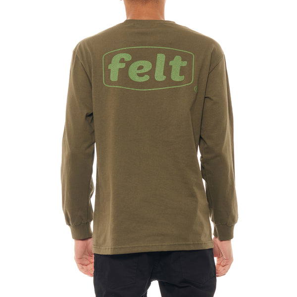 Olive Work Logo Long Sleeve Shirt