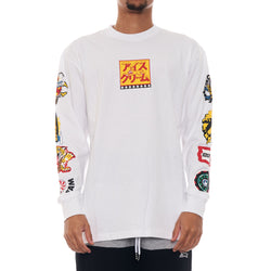Ice Cream Slasher Long Sleeve Knit Shirt