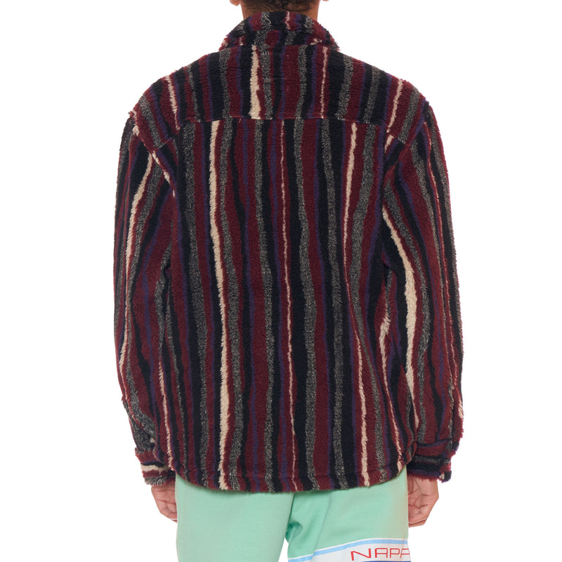 Napa By Martine Rose Striped Shearling Jacket
