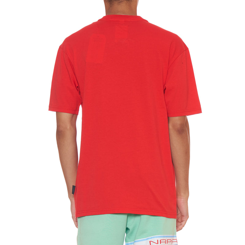 Napa By Martine Rose Red Ocelot Logo T-Shirt