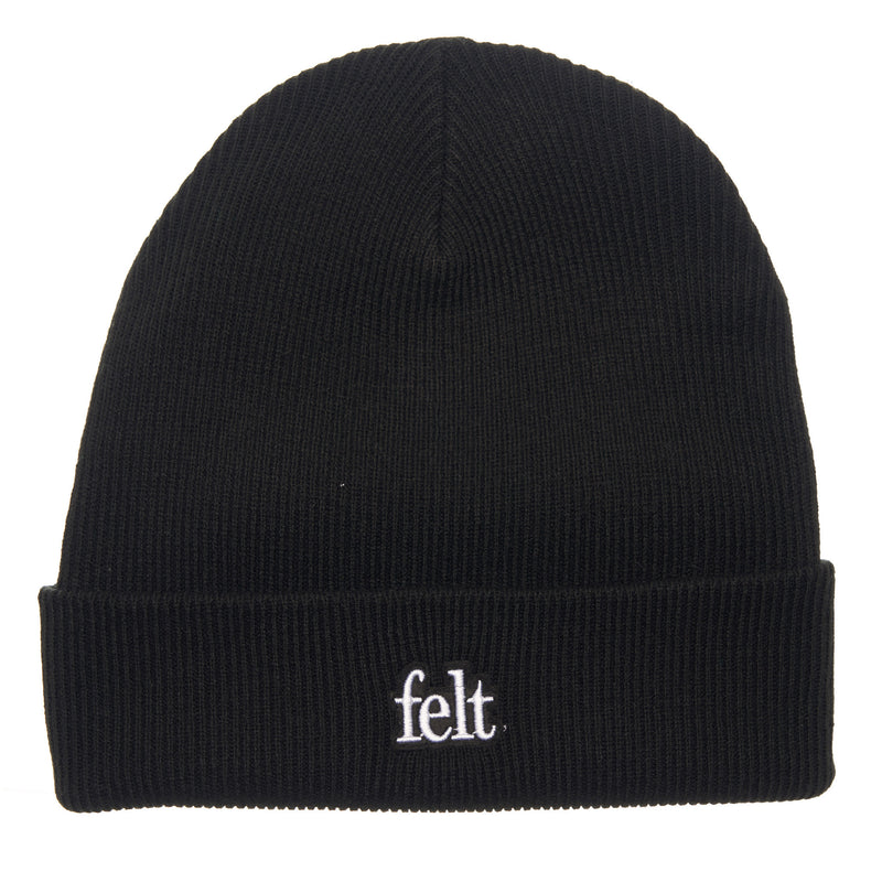 FELT Gauge Knit Beanie (Black)