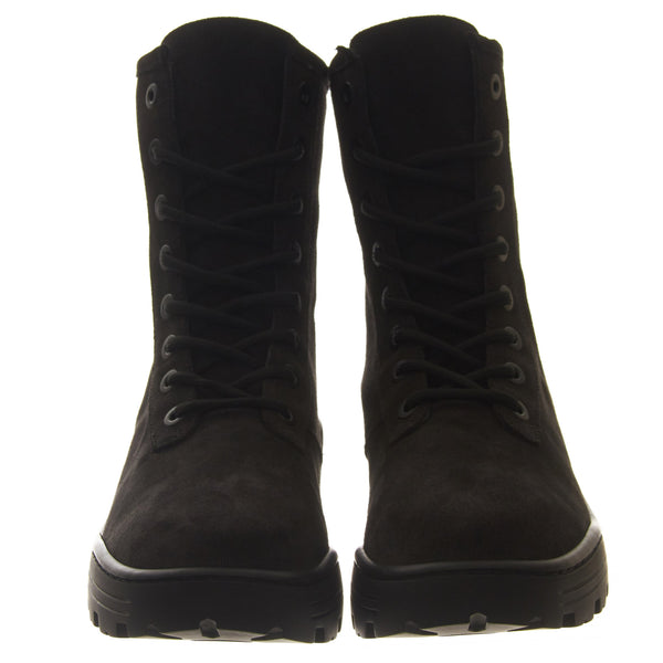 Combat Boot Thick Suede