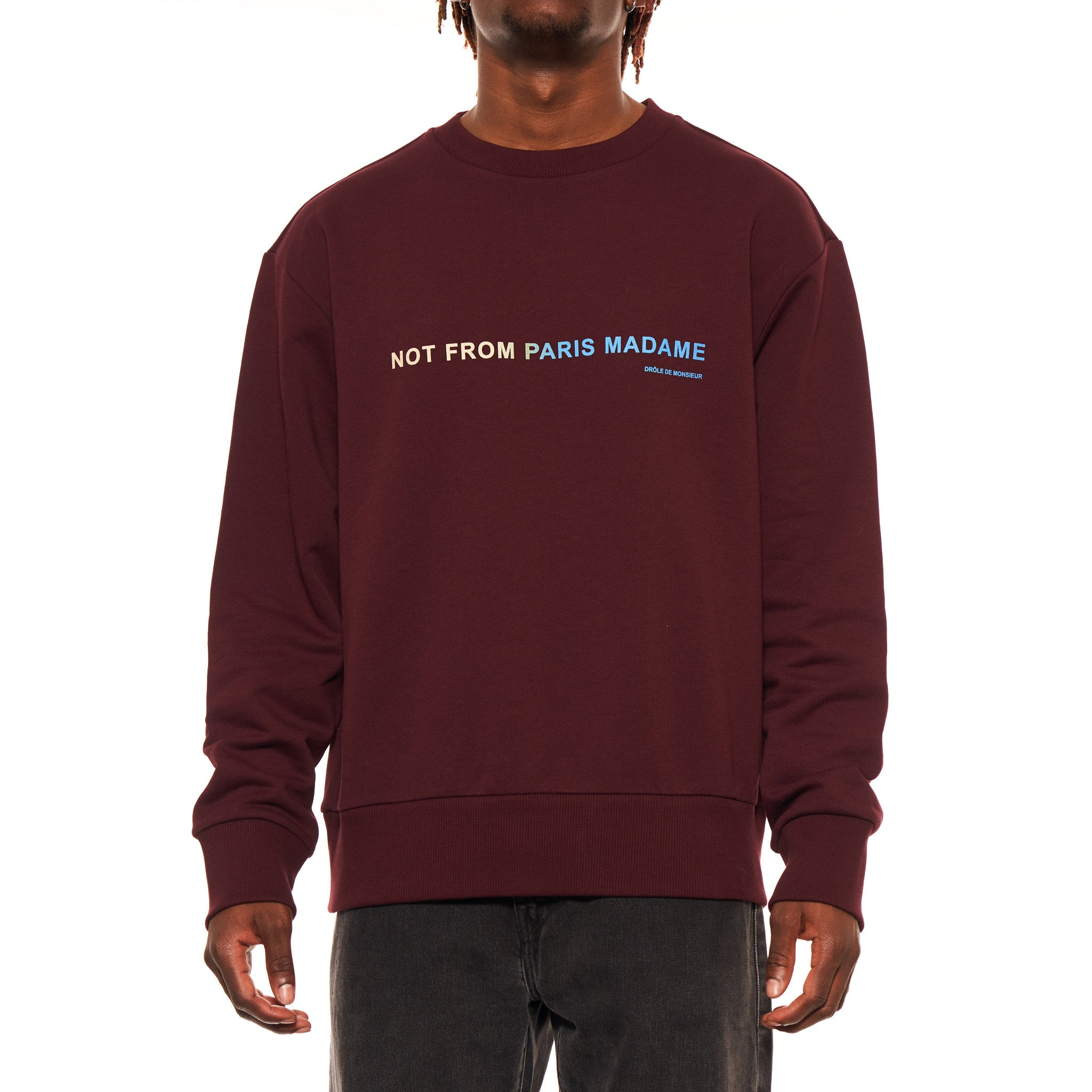 SHADED SLOGAN SWEATER
