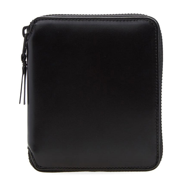 Very black Leather Line Wallet