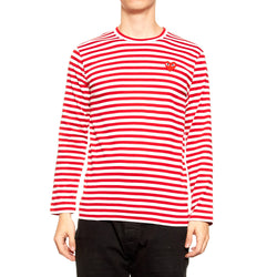 Comme Des Garcons STRIPED RED HEART Shirt