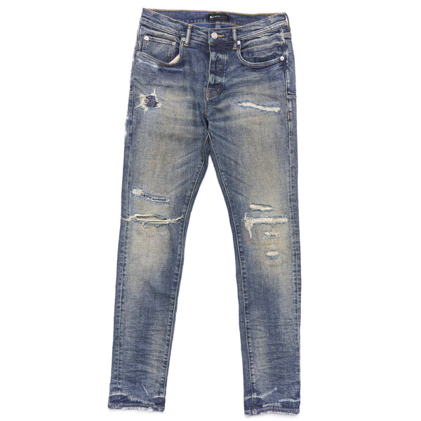 Dirty Indigo Repair Jeans