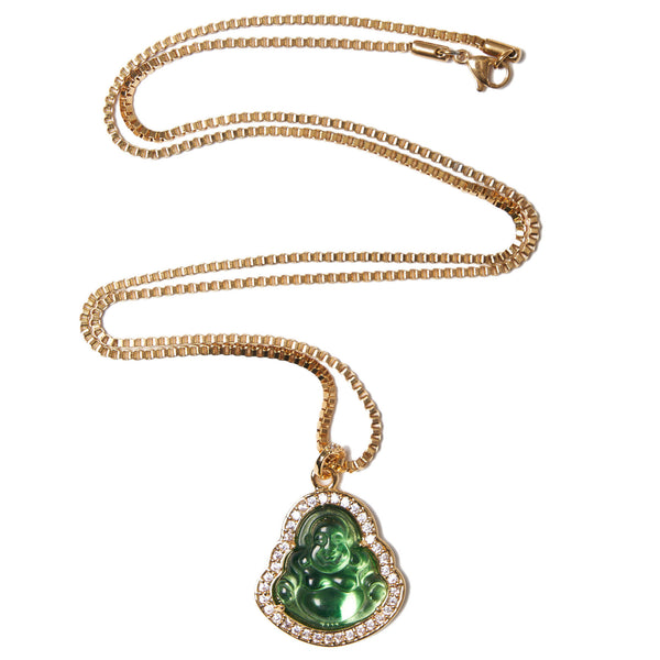 Green Buddha Necklace