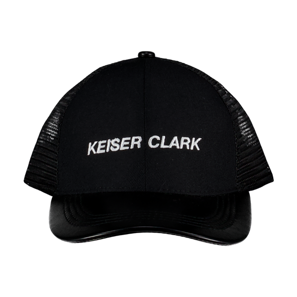 KEISER CLARK MATTE LEATHER LOGO Hat
