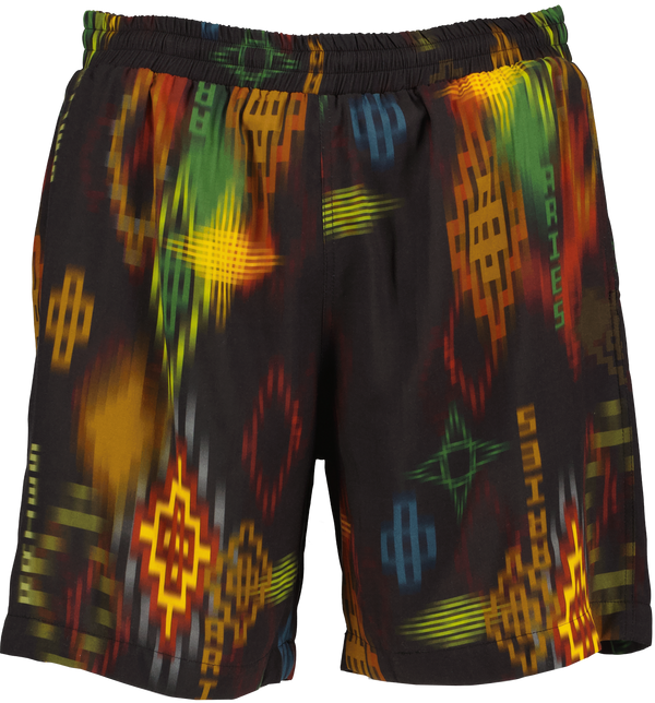 Ikat Print Board Shorts
