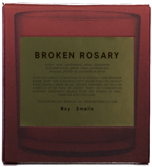 BROKEN ROSARY Candle