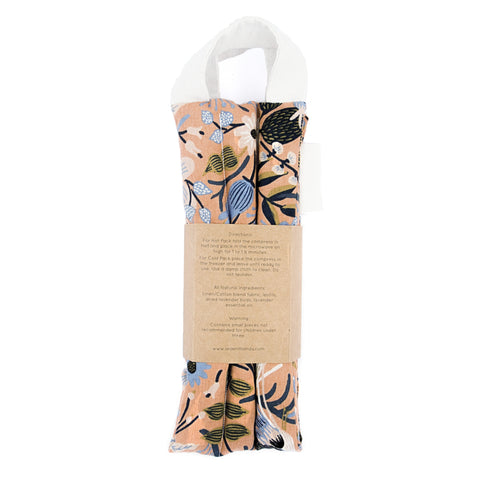 Neck Wrap Therapy Pack - Rifle Paper Company - Peach Folk Birds