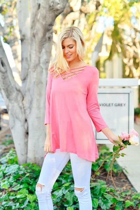 Criss Cross Top | Pink
