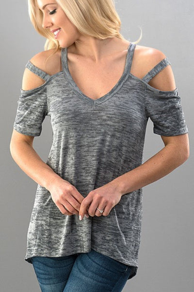 Cold Shoulder Cage Top
