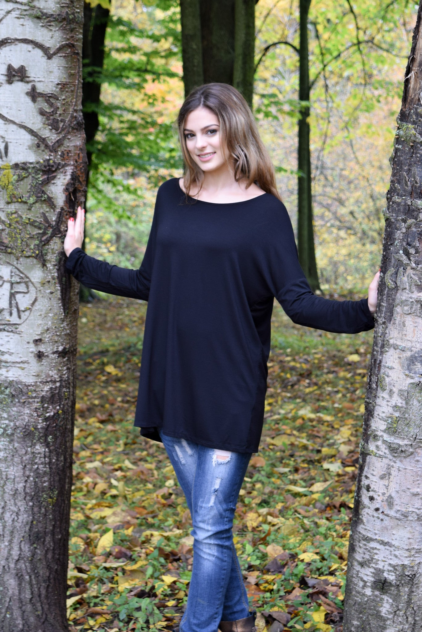 Lux Bamboo Shirt | 5 colors - Hello Pink Boutique - 3