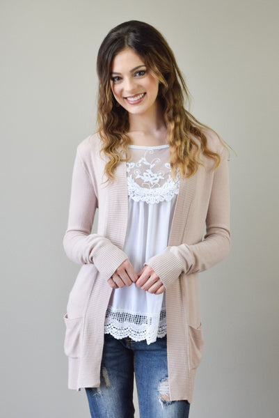 Perfect Spring Cardigan | Dusty Rose - Hello Pink Boutique - 1