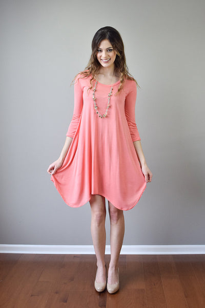 Gwendolyn Spring Dress | Coral