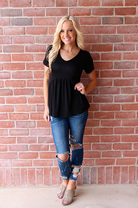 Jess Cinched Top | Black