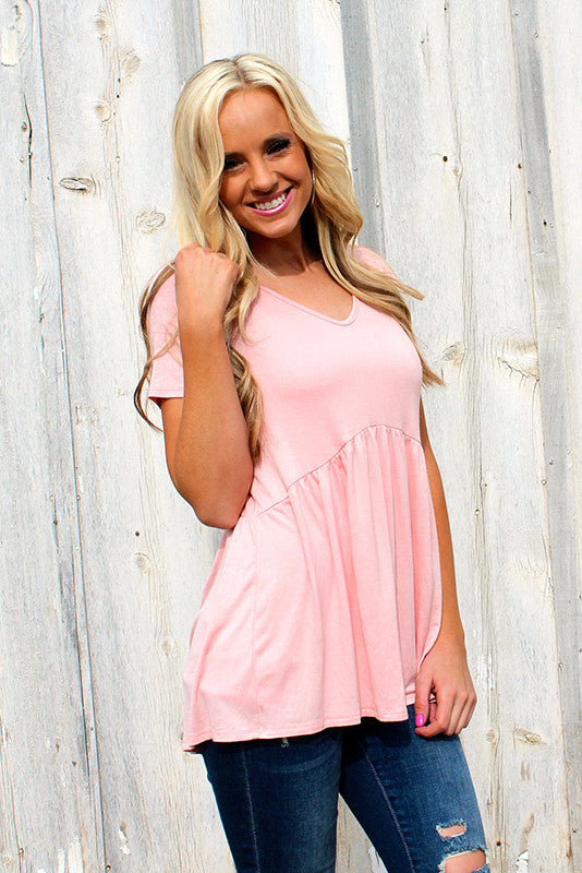 Jess Cinched Top | Blush