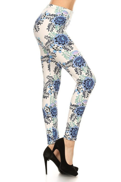 Hello Perfect Leggings | Blue Floral