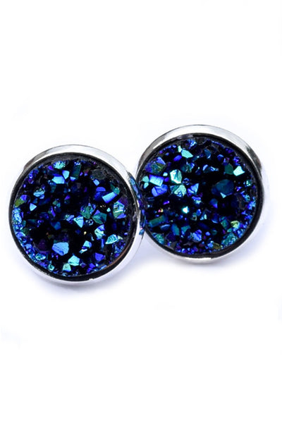 Druzy Earrings | Blue