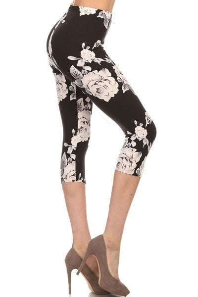 Hello Perfect Leggings | Grey Floral Crop