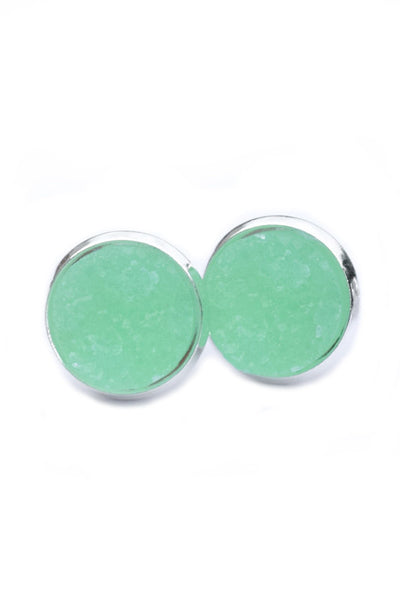 Stainless Druzy Earrings | Mint