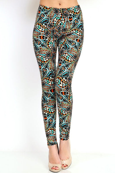 Hello Perfect Leggings | Peacock | S to XL