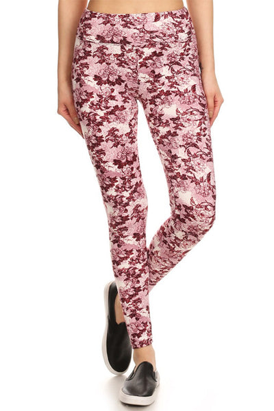 Hello Perfect Leggings | Pink Flowers