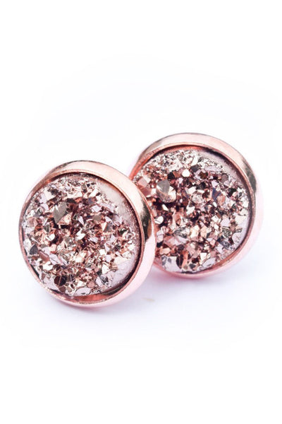 Druzy Earrings | Rose on Rose