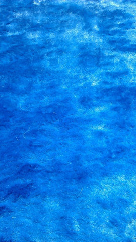 Blue Polyester Cotton Backing Area Rug Made in China